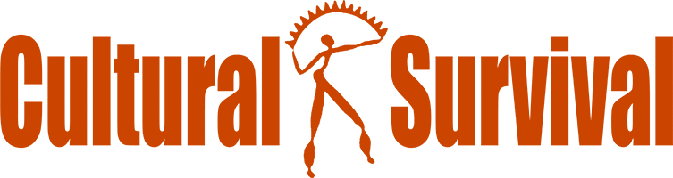 Cultural Survival logo, in red.